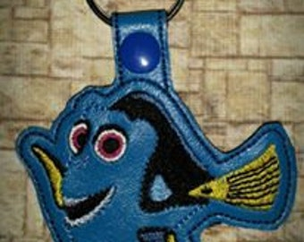Silly Blue Fish Key Fob/Zipper Pull