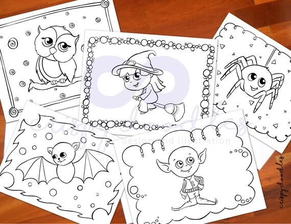 dora coloring pages halloween goblin - photo#42