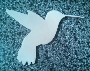 Wooden Shapes - Hummingbird - Door Wreath Accents - Craft Shapes - Kids Projects - Unpainted Wooden Shapes - Wall Decor