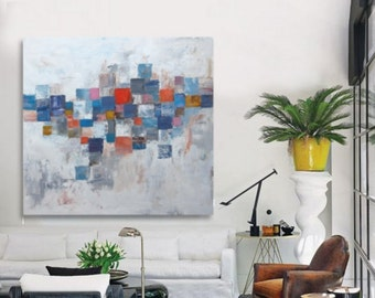 """44"""" X40""""  abstract painting """" modern painting  fine art, acrylic on canvas"""
