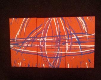 Three Piece Canvas Painting