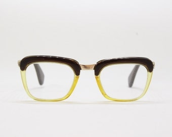 60s clear lens glasses, vintage frame, women's eyewear, Kombi Lux, made in Germany
