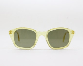 Cat eye sunglasses, 50s glasses, yellow frame, original vintage eyeweac