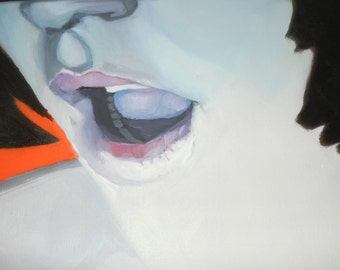 SALE - Comme une Glace a La Pistache by Amour (Like a Pistachio Ice Cream) - 2009 - Oil on Canvas - 40cm x 60cm
