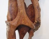 Private Listing - Cottonwood bark carving