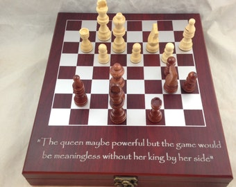 Personalized Chess Set - Laser Engraving