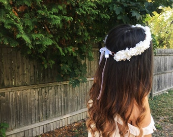 Full Rustic Bridal Flower Crown