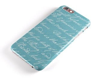 The Teal 18th Century Script -Candy Shell Clip-On Case for the iPhone6-6s or 6-6sPlus/5s/SE/5c/iPadPro/Air/Mini 4/Mini 1-2-3