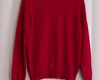 Charter Club 100% Cashmere Blood Red Pullover Sweater Size Small