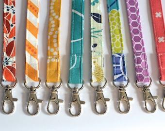 Handmade Fabric Lanyard, Badge ID Holder, Keychain, Nametag