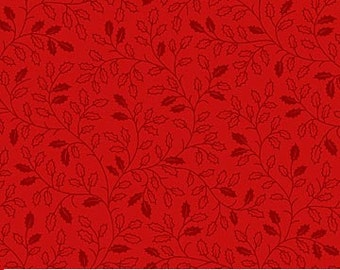 Home for the Holidays~Red~ Cotton Fabric by Northcott Fast Shipping,SB358