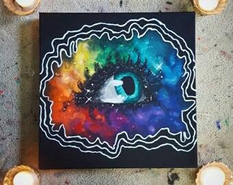 Eye Wonder 12 x 12 Acrylic On Canvas Painting