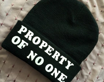 Property of No One Feminist Beanie