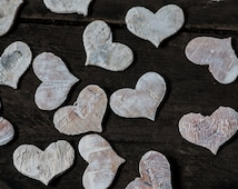 Birch Bark Heart, Wedding Heart Decoration, Heart Confetti, Wooden Heart, Rustic Heart, Rustic Wedding, Natural Bark Heart, Birch Heart
