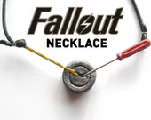Fallout Inspired Lock pick screen - bobbypin and screwdriver Necklace - fallout 3 , fallout 4, fallout new vegas