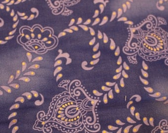 Hoffman Screen Print Fabric Purple Paisleys  Quilting Fabric JS.St. Sold by the Half Yard