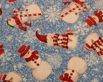 Sweet Season by Debra Jordan Bryan for Quilting Treasures Jaunty Snowmen and Christmas Sold by the Half Yard