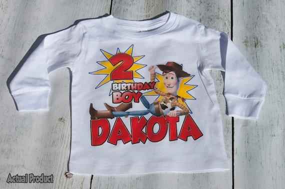 Toy Story Birthday T Shirt - Personalized Custom -  Woody, Buzz Lightyear, Jessie