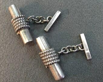 Silver Mod Handmade Cufflinks