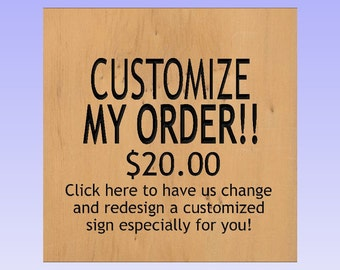 Custom Order! Need design changes? Click here! Want us to customize the layout? Click here! Need a different image? Click here! Custom Order