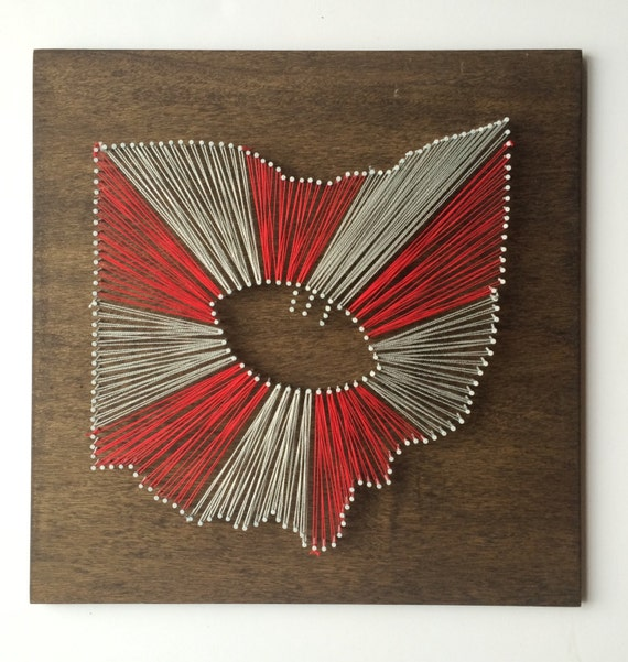 MADE TO ORDER Ohio State String Art, Ohio State Football String Art, Any State String Art