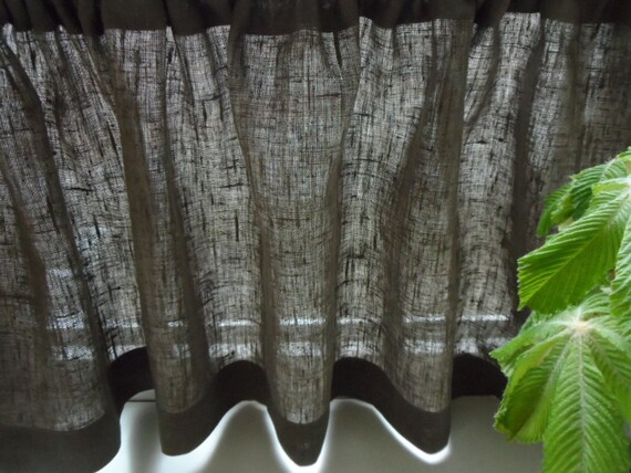 Linen curtain valance. Kitchen Cafe Curtains. by LINENSPRING