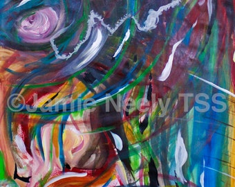 Colorful Collaboration Giclee Art Print | Acrylic Painting | 9x12 | 12X16