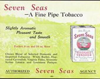 Seven Seas Pipe Tobacco Sign