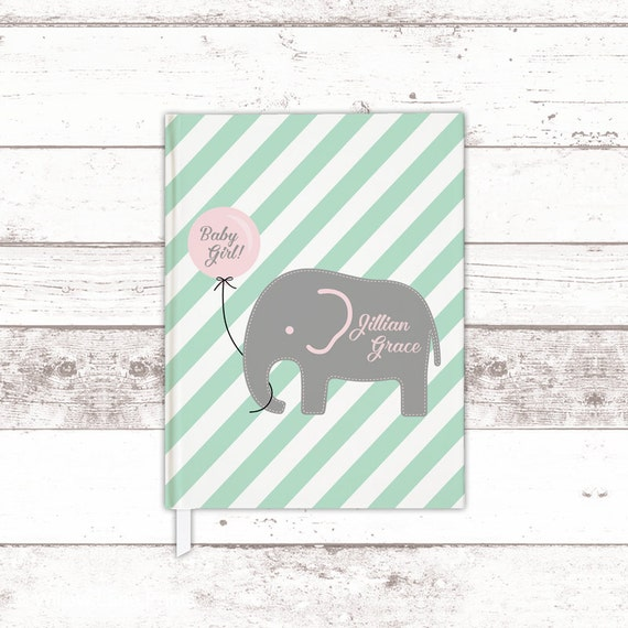 Baby Book Ideas: Elephant Baby Shower Guest Book Ideas Mint Pink Baby Shower