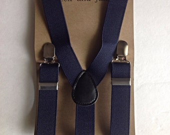 Baby/Kids Navy stretchy suspenders