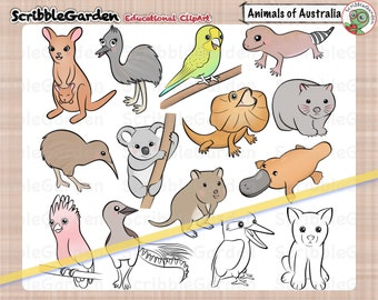 Habitat Animals of Australia ClipArt
