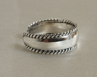 Sterling Silver Bali style adjustable  toe ring