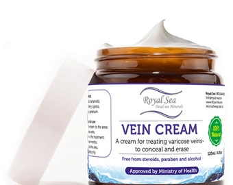 Dead Sea Spider vein cream, varicose veins cream, veins Treatment varicose veins treatment, Spider veins treatment 120ml / 4.05 oz
