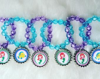 Ariel party favor bracelets.. Ariel bracelets.. Ariel party favors.. Ariel party.. The little mermaid party favors