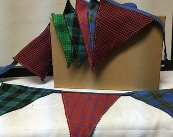 MAD for PLAID Mini-Decorative Fabric 2-Sided Pennant Flags