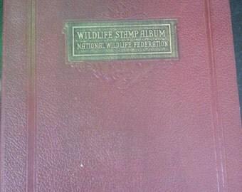 1930's - 1940's Wildlife Stamp Album with 9 booklets