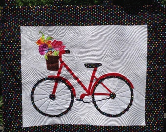 Bicycle Quilt Wall Hanging
