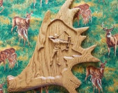 Bow Hunter Wood Carving -...