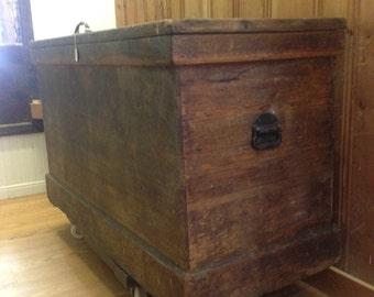Oversized Antique Trunk