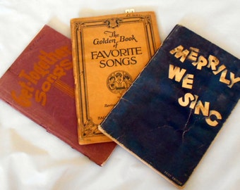 Vintage 3 Children music Book Children book Child's music from the 30's and 40's