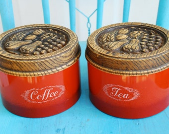 60's Coffee & Tea Canister Set