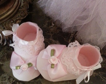 Pink Shoe Favors / Baby Shower Favors / Set Of Ten Pink Booty Shoe Favors /