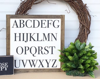 Alphabet Sign, 12 X 12, Nursery Decor, Playroom Decor