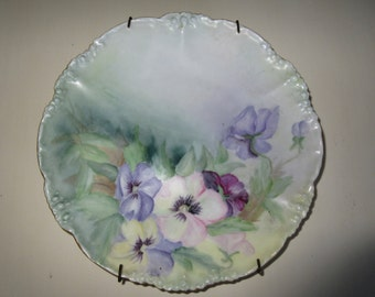 FRANCE JPL Plate with Pansies