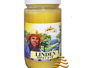 Amish Linden Raw Unfiltered Kosher Honey 1Lb
