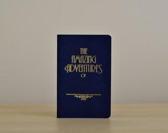 Travel Journal A6   NAVY & LUNA GOLD   Rustic Foil Letterpress - Amazing Adventures of...