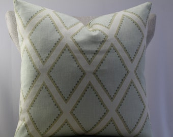 Brookhaven Celadon by Sarah Richardson pillow cover,throw pillow,decorative pillow,accent pillow,same fabric on front and back.