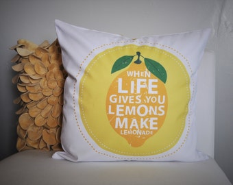 When life gives you lemons,  lemon Pillow, Summer Pillow, Summer decor
