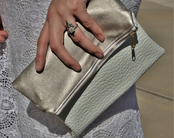 The Courtney - Foldover Colorblock Clutch Handbag