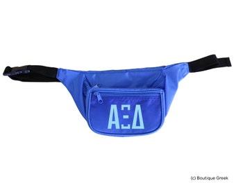 axid alpha xi delta letters fanny pack